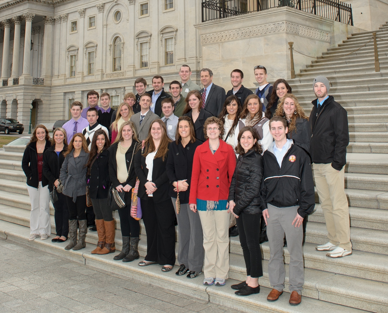 Sen. Brown and Walsh Students