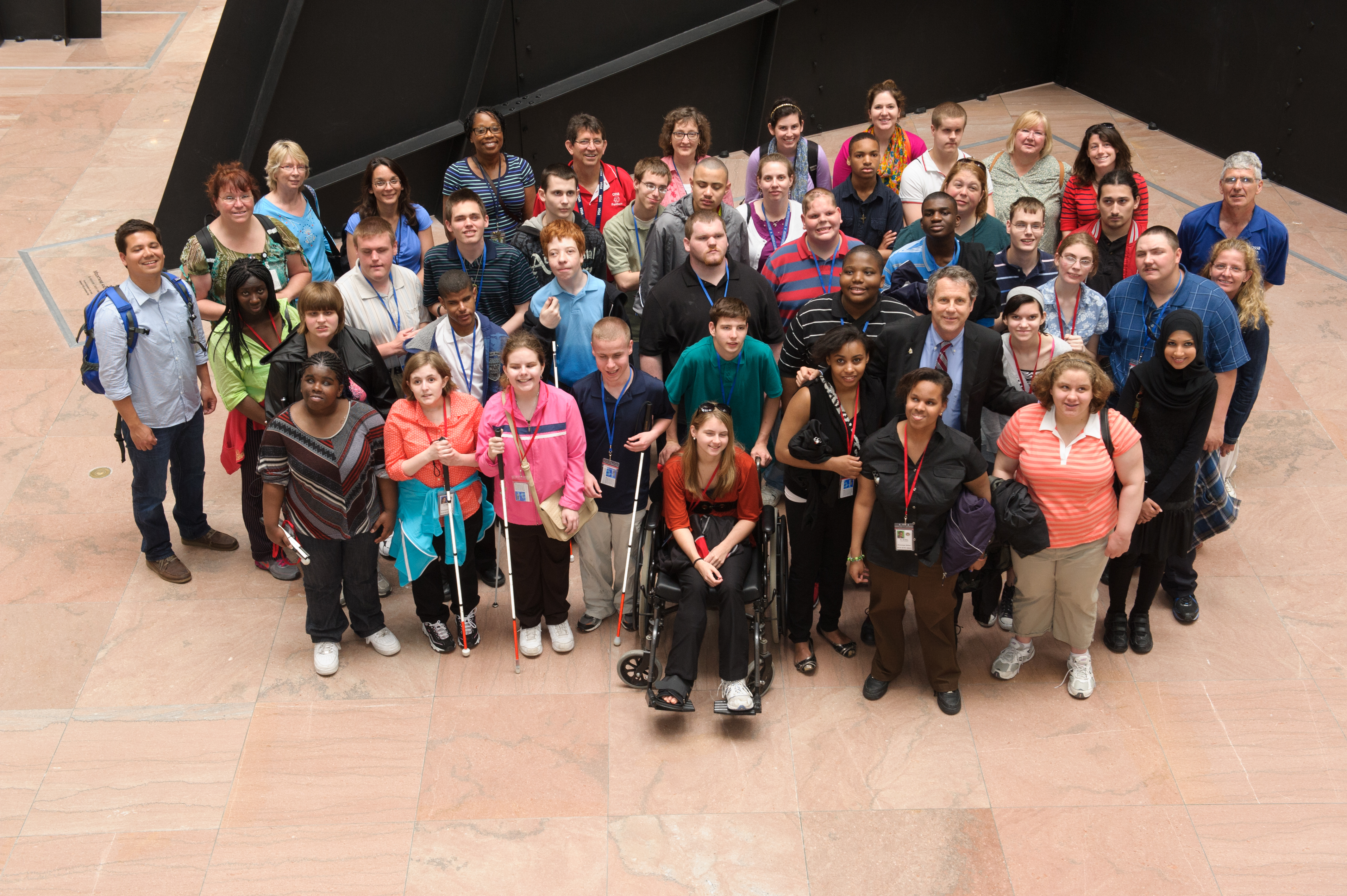 Sen Brown Meets with Ohio State School for the Blind Students in