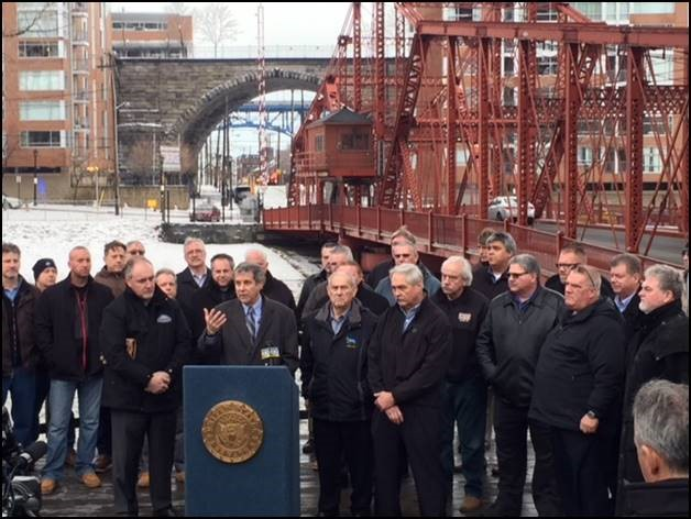 Brown Talks Bridges and Infrastructure in Cleveland