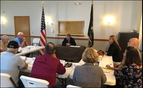 Brown Convenes Roundtable with Ohio Veterans in Geauga County
