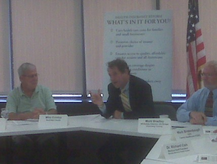 Sen. Brown at the Round Table