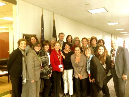 Sen Brown & Ohio Reps from the Nat'l Council of Jewish Women
