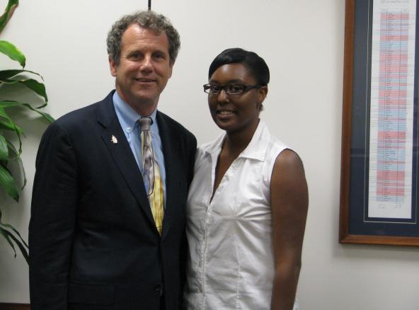 Sen. Brown and Ms. Caldwell