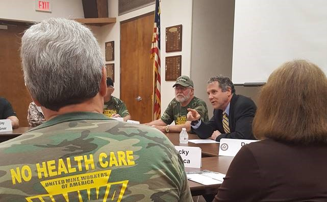Senator Brown Speaking With Miners in Steubenville