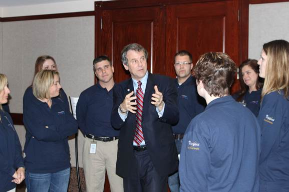 Sen. Brown and Whirlpool Workers