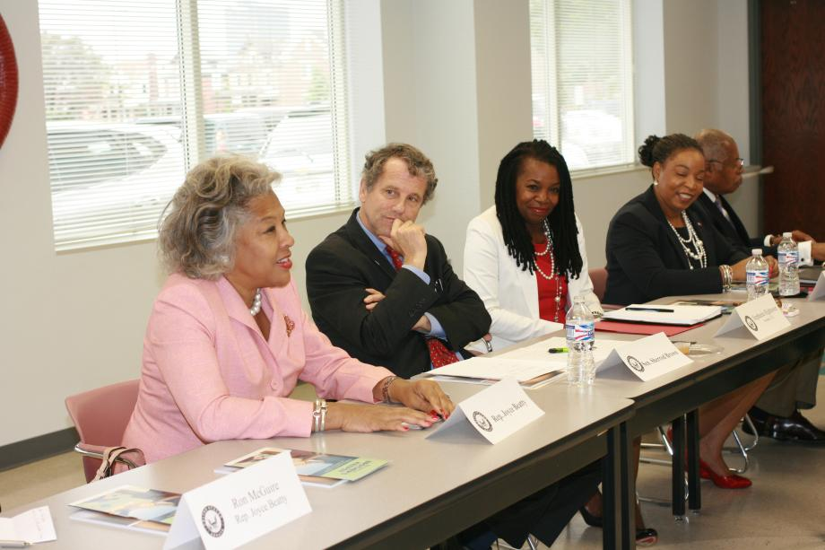 At Columbus Urban League for Roundtable with Rep. Joyce Beatty