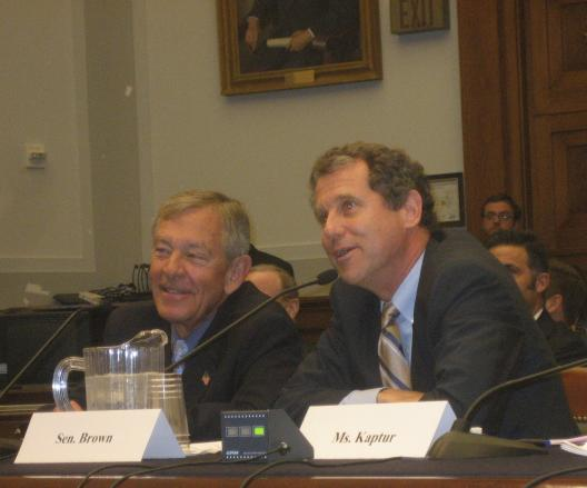 Senator Brown testifies before the House Judiciary Committee on the DHL situation in Wilmington