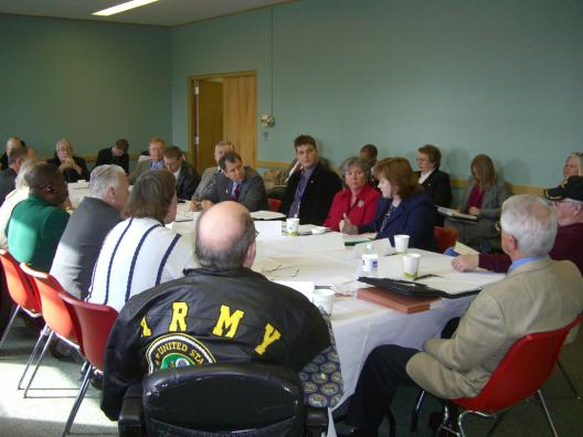 Meeting with Veterans in Columbus