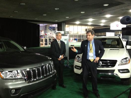At the Detroit Auto Show