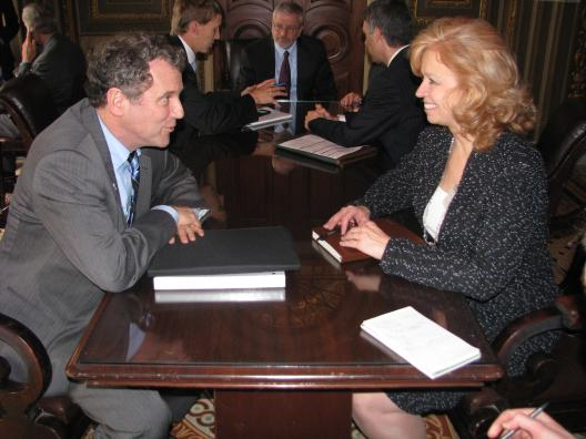 Sen. Brown Meets with Brigadier General (Ret.) Allison Hickey