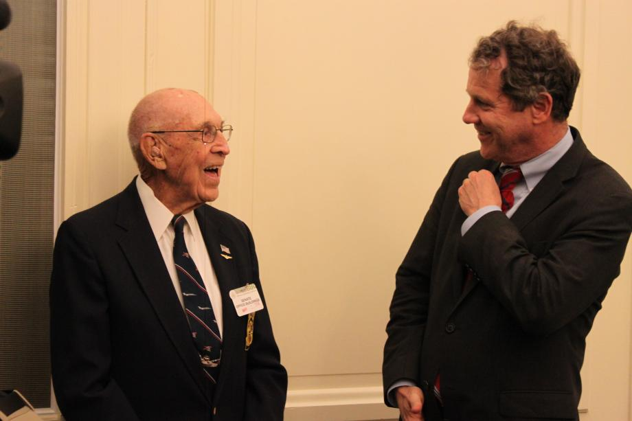 Announcing Congressional Gold Medal with Doolittle Raider Dick Cole