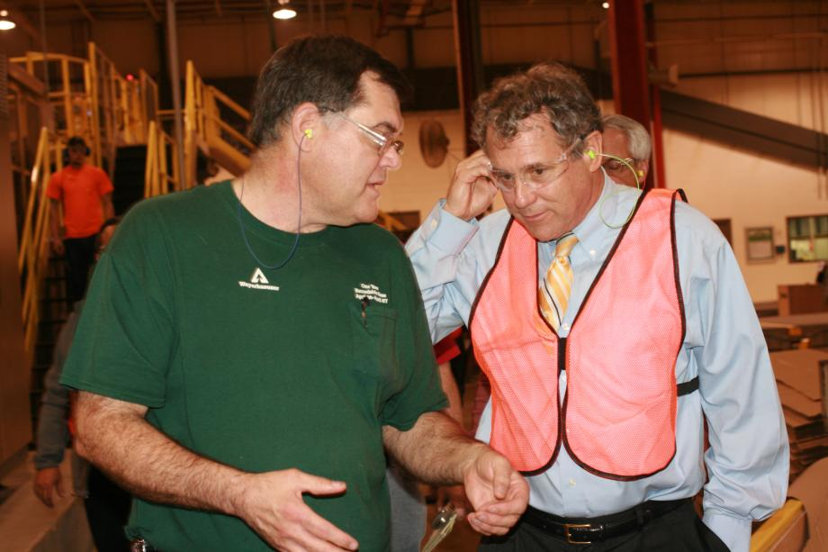 Touring International Paper's Mt. Vernon plant on National Manufacturing Day