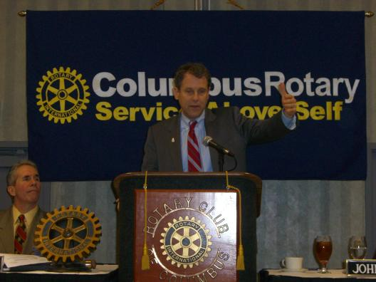 Speaking to the Columbus Rotary
