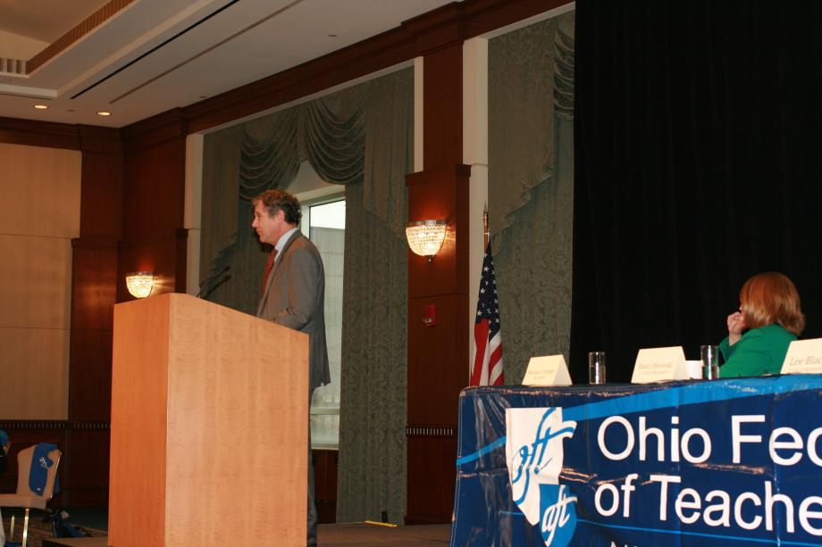 Speaking at Ohio Federation of Teachers