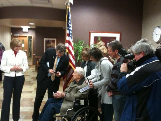 Sen. Brown Presents Purple Heart, Replacement Medals to Ohio Veteran Michael Demich