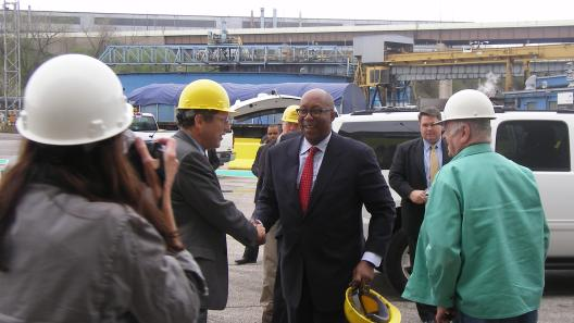 Sen. Brown & United States Trade Representative Ron Kirk Tour ArcelorMittal Cleveland