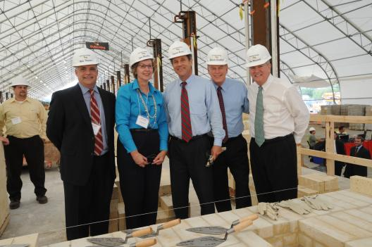 Sen. Brown, Gov. Strickland Attend Brick Laying at SunCoke Energy Facility in Middletown