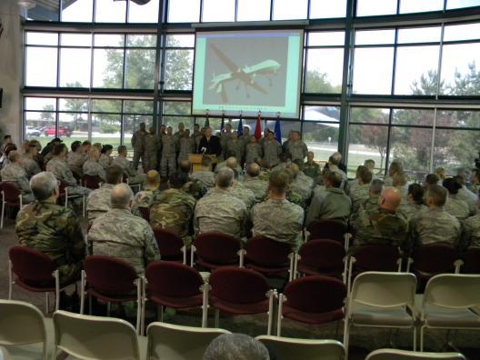 Sen. Brown visits Springfield Air National Guard Base