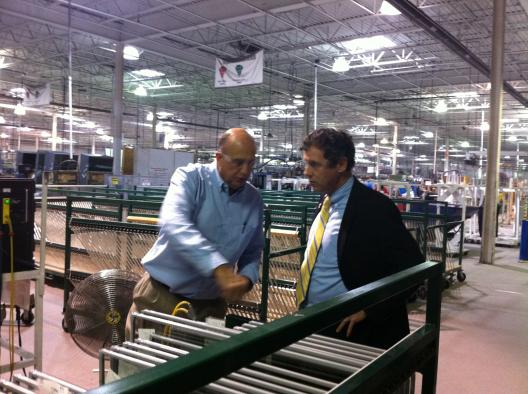 Sen. Brown Visits Jeld-Wen Window Factory in Mount Vernon
