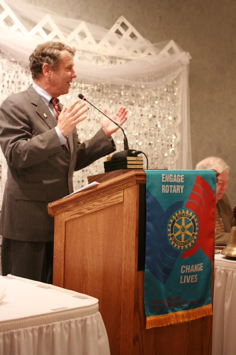 Speaking at Canton Rotary Club