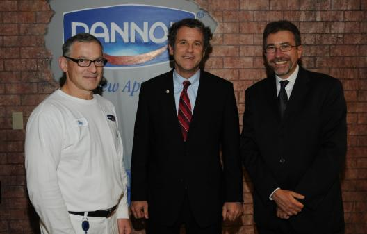 Sen. Brown Visits Nation's Largest Yogurt Production Facility in Minister