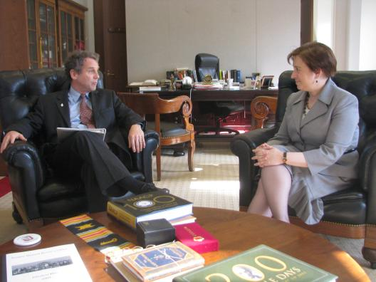 Sen Brown meets with Solicitor General Elena Kagan about her Supreme Court nomination