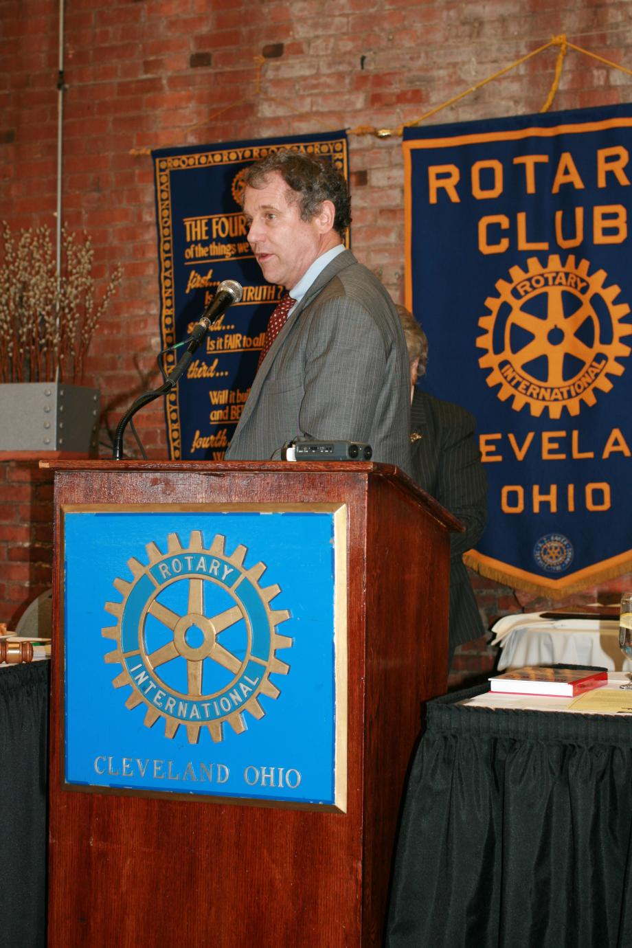 Speaking at Rotary Club of Cleveland