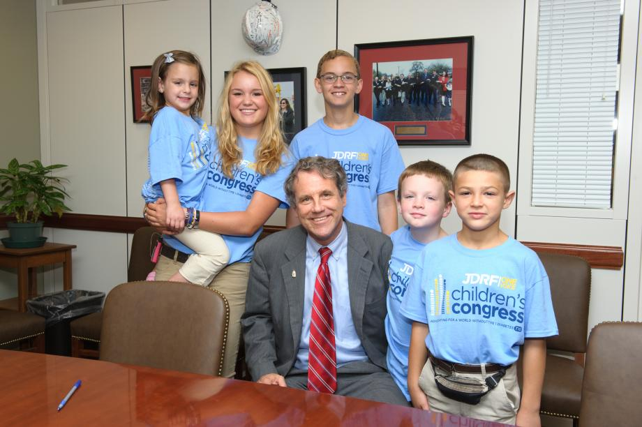 Meeting Ohioans from JDRF Children's Congress Delegates