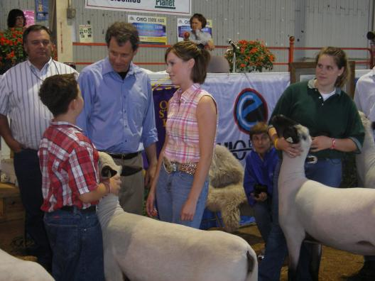 Senator Brown at the Ohio State Fair